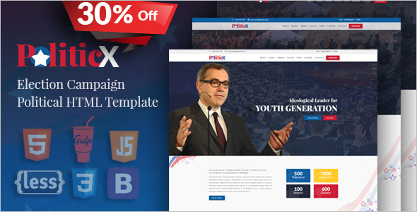 Political Party Website HTML Template