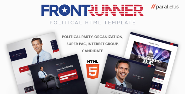 Political Website Bootstrap Theme
