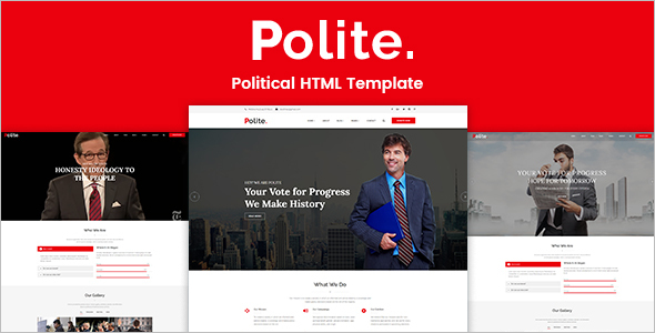 Political Website HTML Template