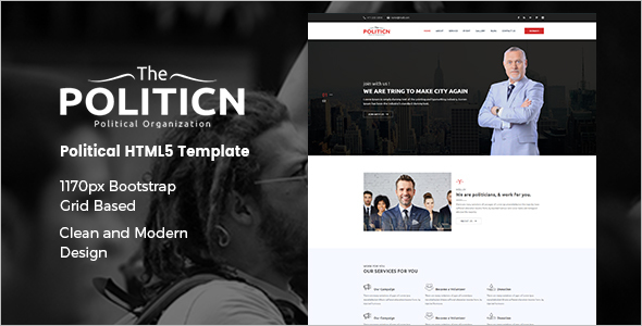 Politician HTML Template