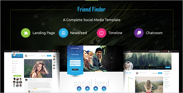 Popular Social Media Website Template