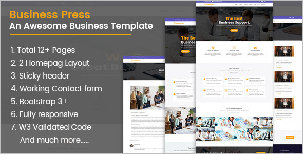 Portfolio Business Bootstrap Template