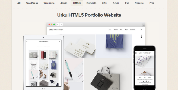 Portfolio HTML Website Template
