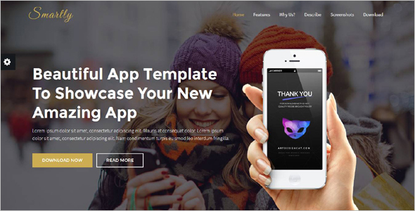 Powerful Responsive App Landing Page Template