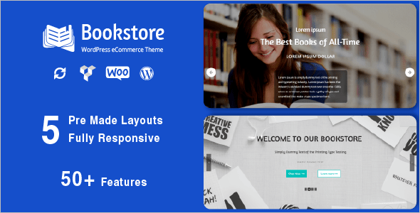 Premium Book Store WordPress Theme