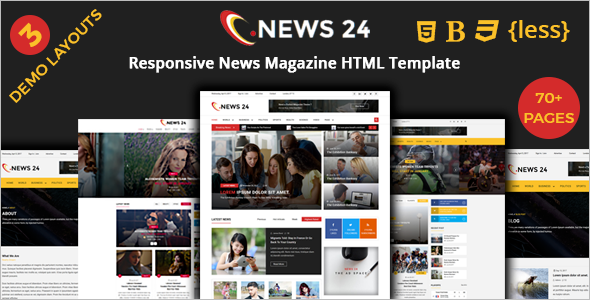 Premium Magazine Blog Template