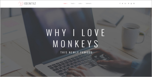 Professional Personal Blog Template