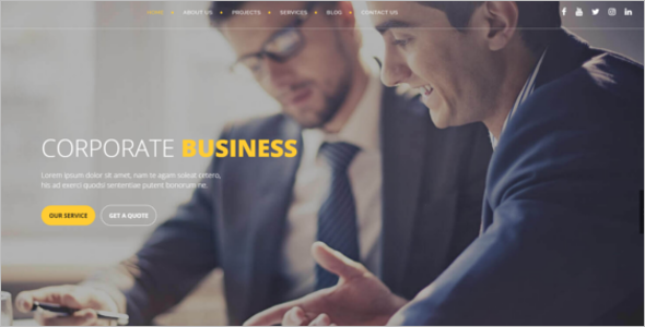Professional Services Bootstrap template