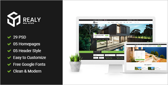 Real Estate Blog PSD Template