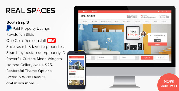 Real Estate Blog Website Template