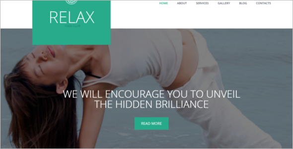Relaxation Yoga WordPress Theme