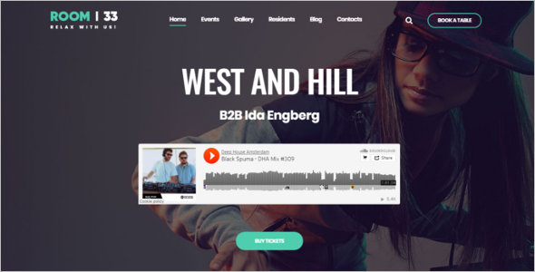 Responsive Audio WordPress Theme