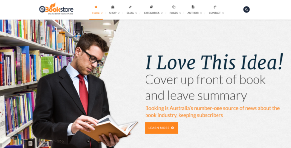Responsive Book Store WordPress Theme