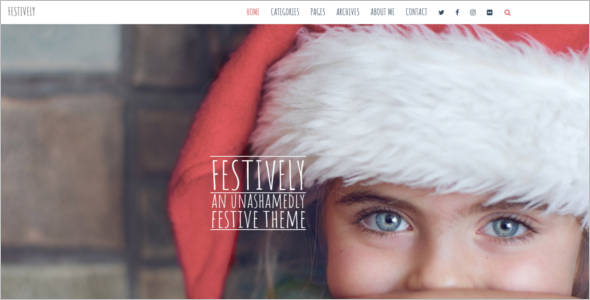 Responsive Christmas WordPress Theme