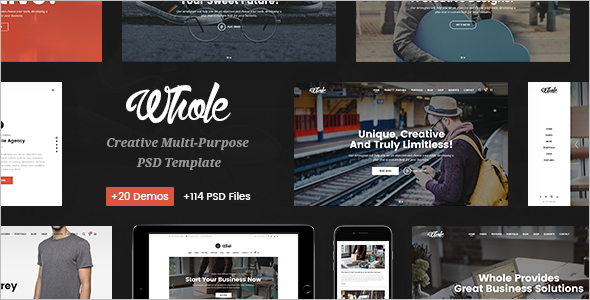 Responsive Corporate WordPress Template