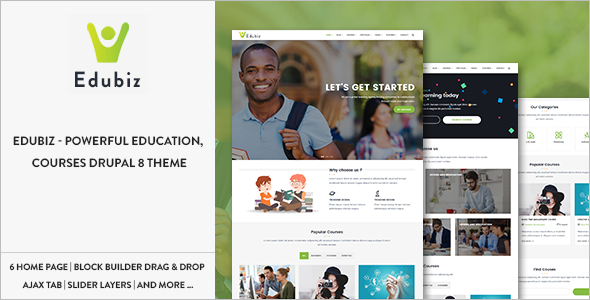 Responsive Education Drupal Theme