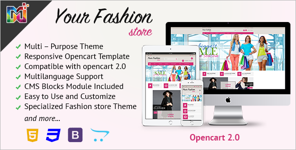 Responsive OpenCart Store Template