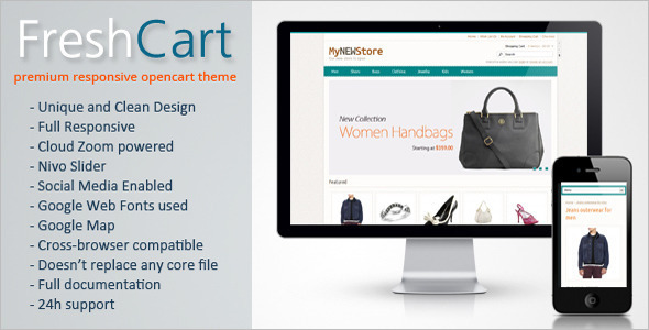 Responsive Opencart Fashion Template