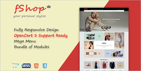 Responsive Opencart Layout Template