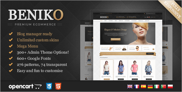 Responsive Opencart Marketing Template