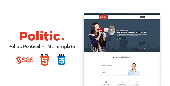 Responsive Political HTML Template