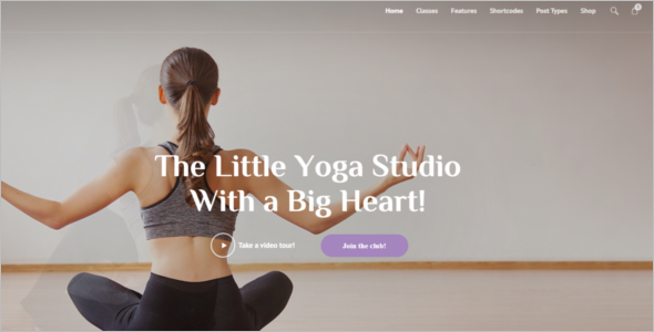 Responsive Yoga WordPress Theme