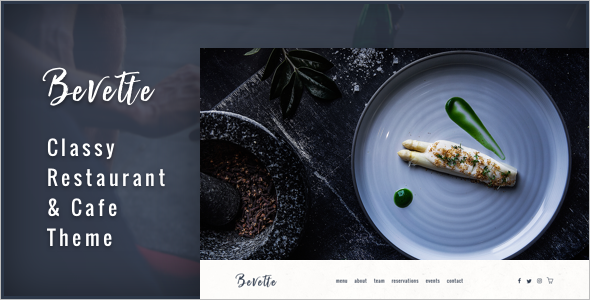 Restaurant Booking WordPress Template