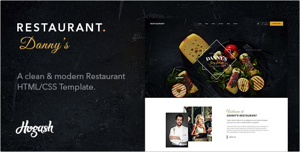 Restaurant Cafe WordPress Template