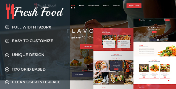 Restaurant E-commerce WordPress Template