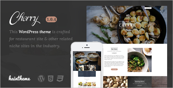 Restaurant Menu WordPress Template