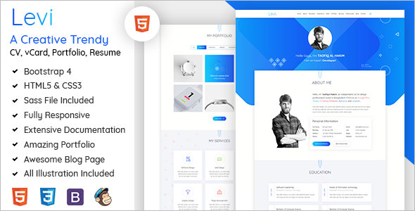 Resume Bootstrap Template