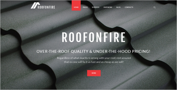 Roofing Services WordPress Theme