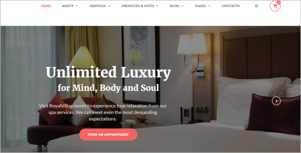 Royal Hotel HTML Website Template