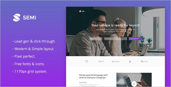 Services Landing Page HTML Template
