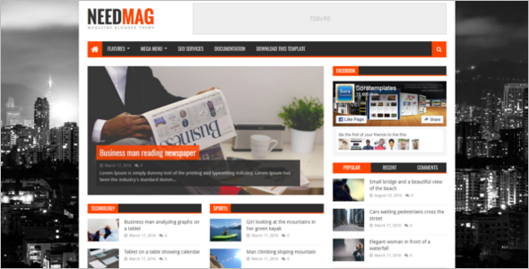 Simple Free Blog Template