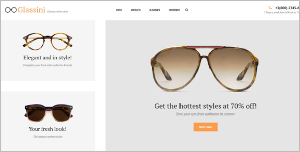 Simple Glasses PrestaShop Theme