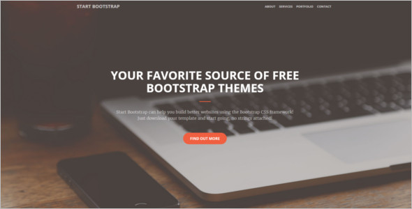 Simple Portfolio Bootstrap Template