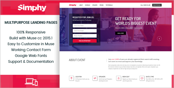 Single PageLanding Page Template