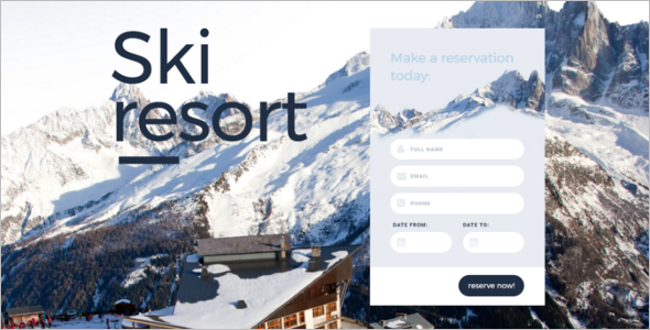 Skiing Landing Page Template