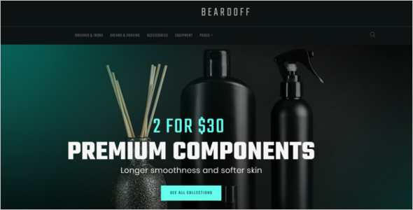 Skin Care Products WooCommerce Template