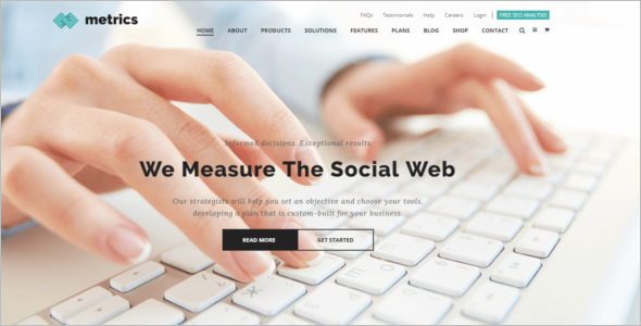Social Media Website Template