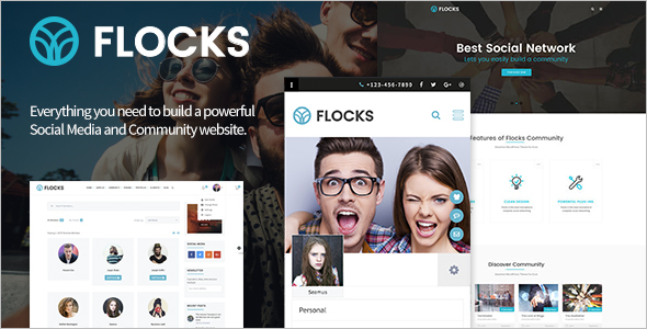 Social Network WordPress Theme