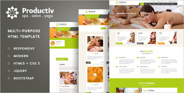 Spa HTML Web Template
