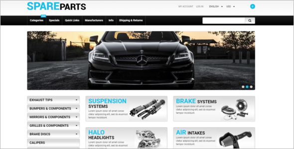 Spare Parts ZenCart Theme