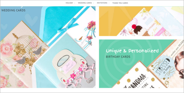 Special Occasion Cards Store Magento Theme