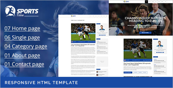 Sports Blog Template