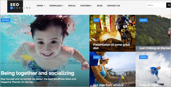 Sports Magazine Blogger Template