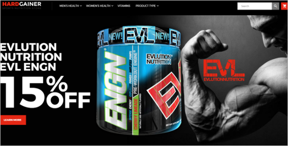 Sports Nutrition Store Magento Theme