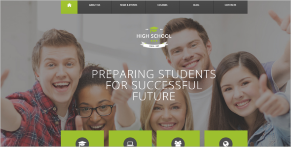 Student Education Drupal Template