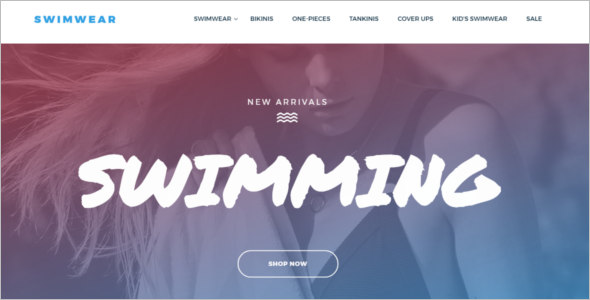Swimwear Bootstrap Template